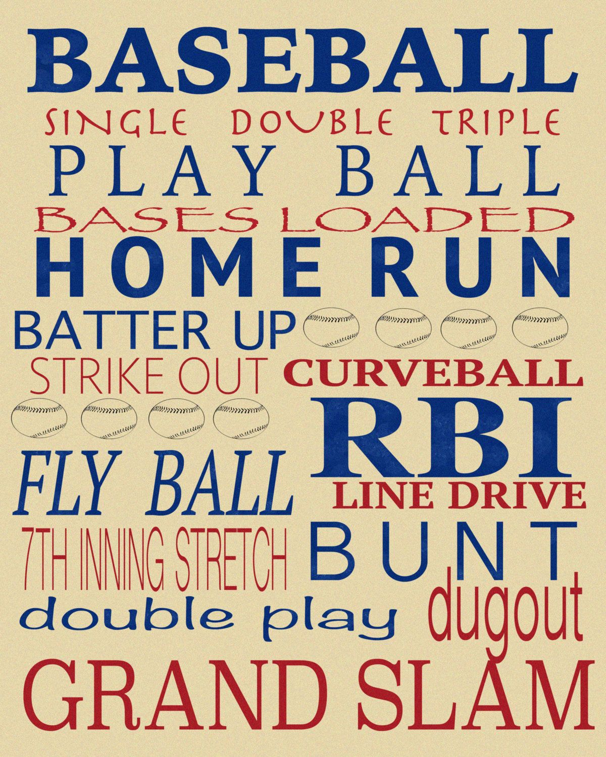 BASEBALL canvas room wall decor boy bedroom by Boymommax4 on Etsy ...