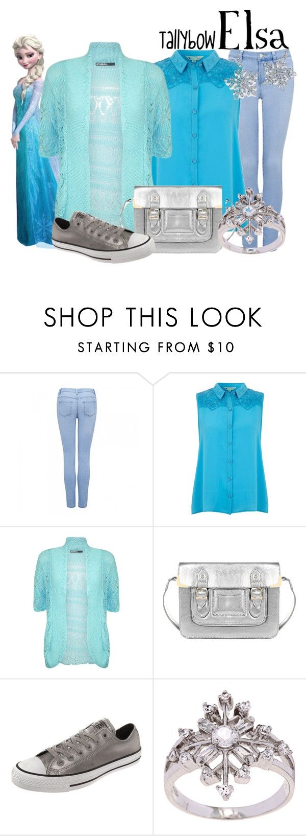 """""""Elsa"""" by tallybow ❤ liked on Polyvore featuring Forever New, Yumi, Converse, La Preciosa and Natures Jewelry"""