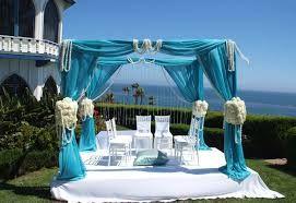 Резултат с изображение за wedding garden chairs blue sash