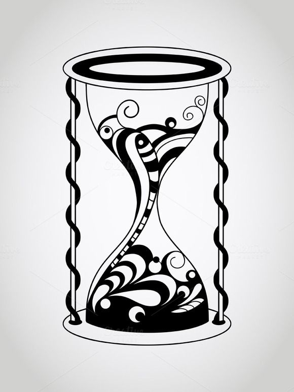 vector tattoo hourglass by alexmakarova on creative market sand Glasshour Time vector tattoo hourglass by alexmakarova on creative market