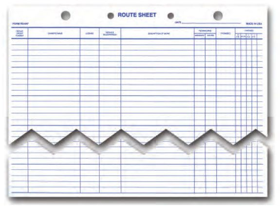 Route Sheet An ideal way to schedule and track work for the service - stock purchase agreement template