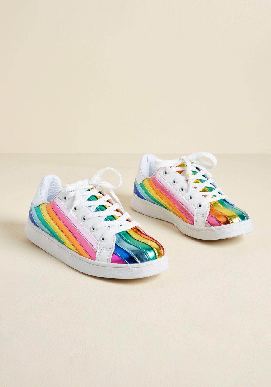Rainbow sneakers, Metallic sneakers