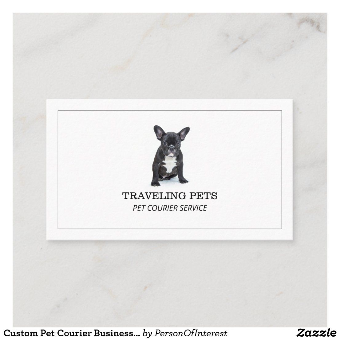 Custom Pet Courier Business Card Zazzle Com Pets Service Animal Pet Travel