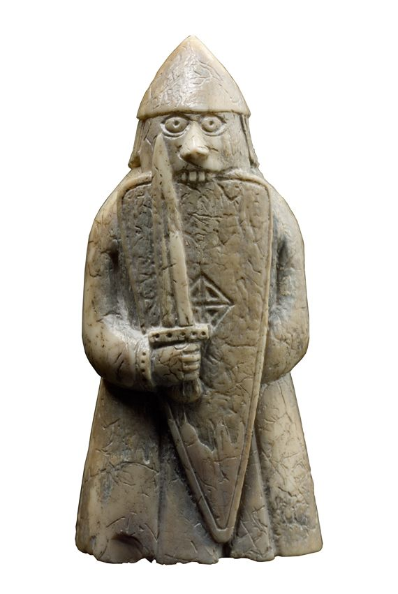 The berserker of the Lewis chessmen.  I approve of Viking berserker chesspieces far too much.