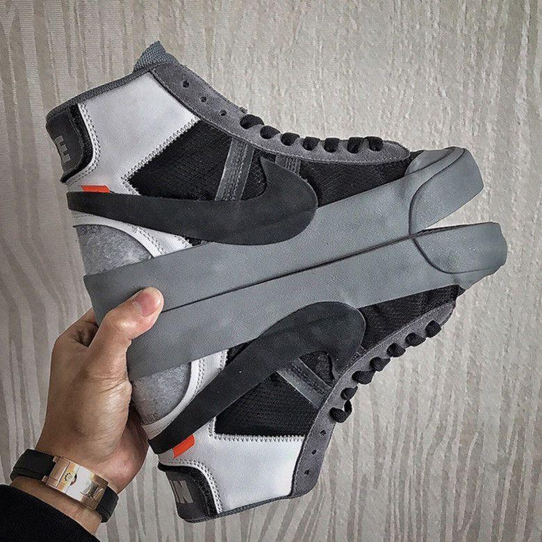 OFF WHITE x Nike Blazer Grey First Look