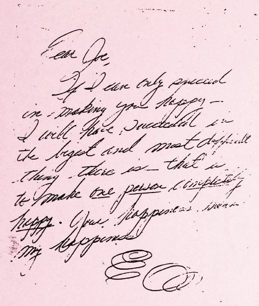 Lettter from Marilyn Monroe to ex-husband Joe diMaggio Dear Joe - Love Letter To Husband