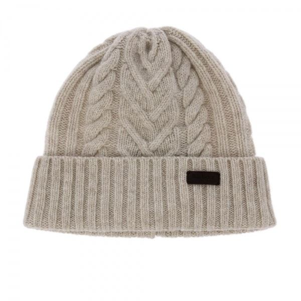 16587f5ae0d Barbour Lambswool Cable Hat Sand