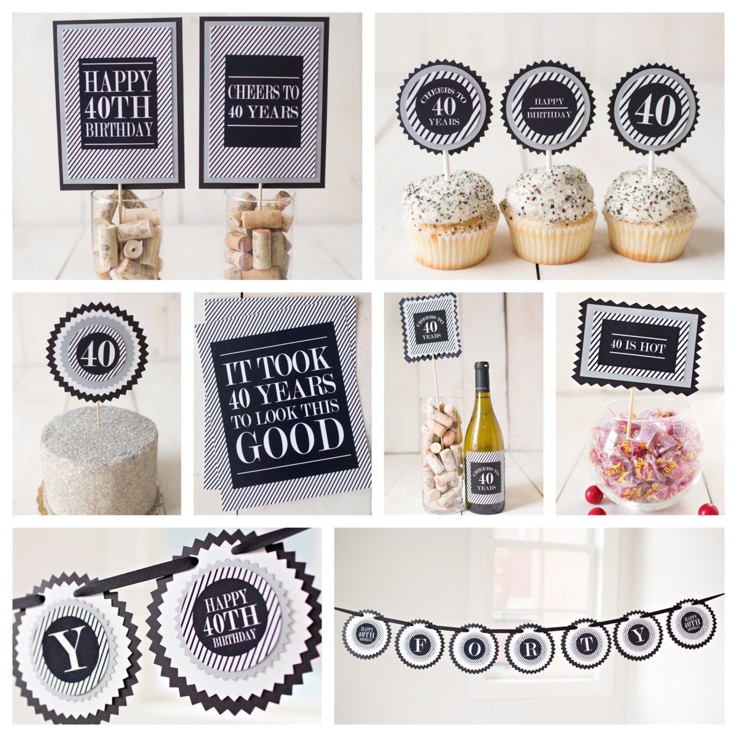 40th 50th 60th Masculine Birthday Party Decorations Boutique 8