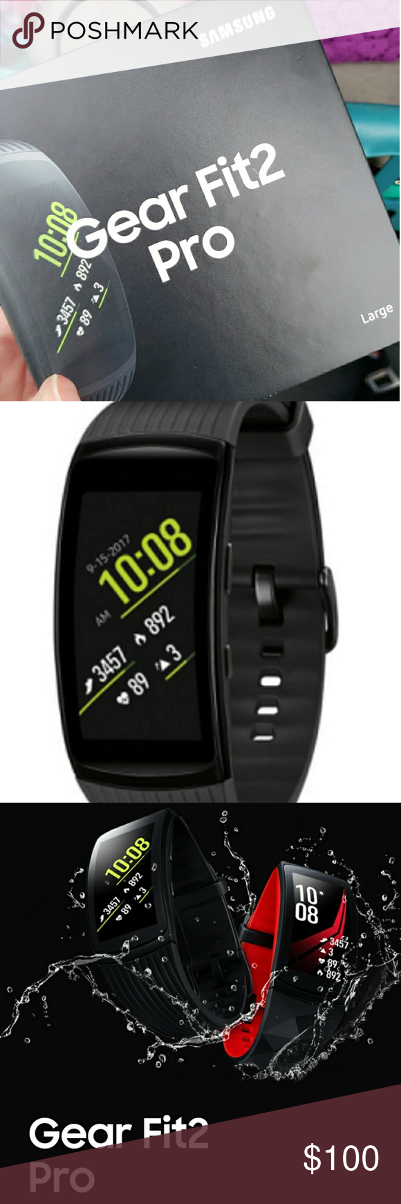 Nwt Samsung Gear Fit Pro2 Large With More Than 3 000 Apps And Watch Faces To Choose From Including Spotify You Can Customize Your Ge Samsung Listening To Music Watch Faces