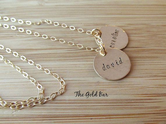 Carry your kids with you Personalised Kids Name Necklace in 14K