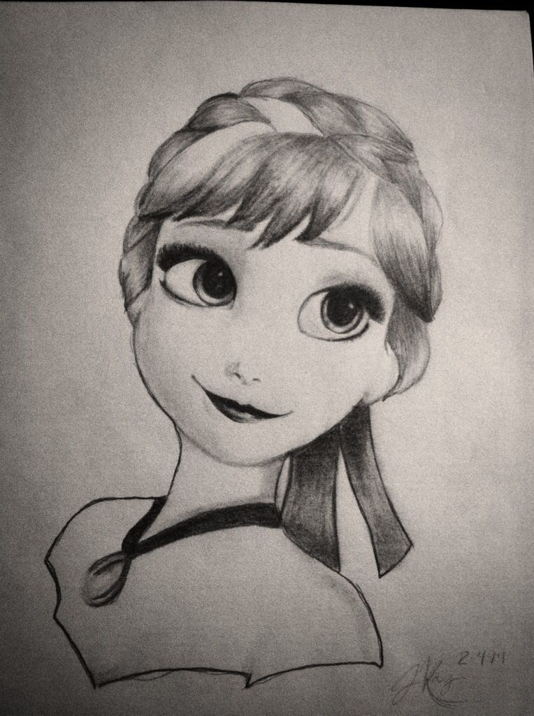 My Disneys Frozen Anna drawing | Disney stuff ^-^ | Pinterest