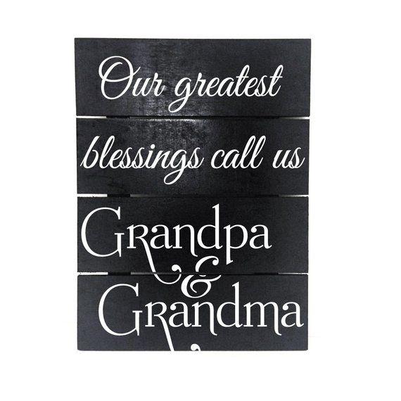 Grandparents Saying Wall Hanging Sign New Grandchild Saying
