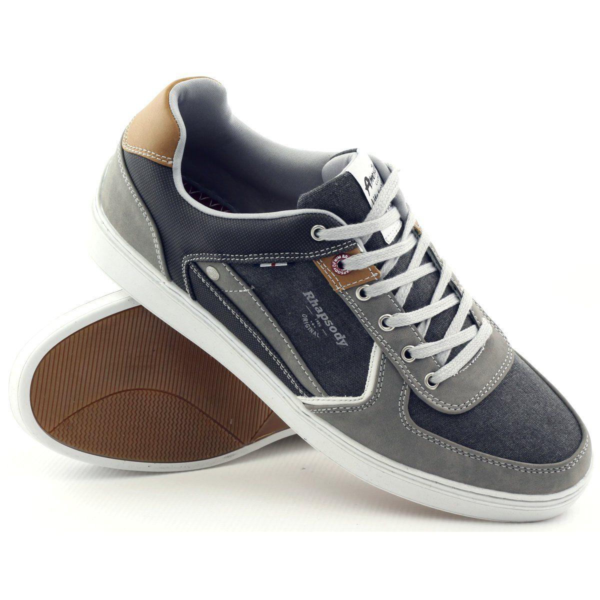 American Club Buty Meskie Trampki Sportowe Szare American 703021 Brazowe Sneakers Shoes Brooks Sneaker