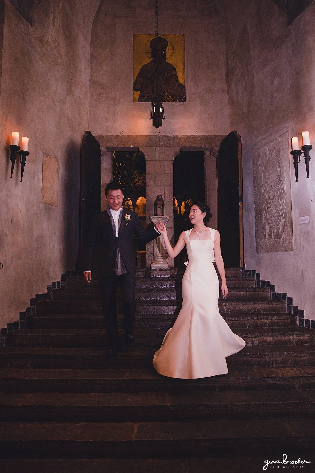 The bride and groom make their grand entrance during their Hammond ...