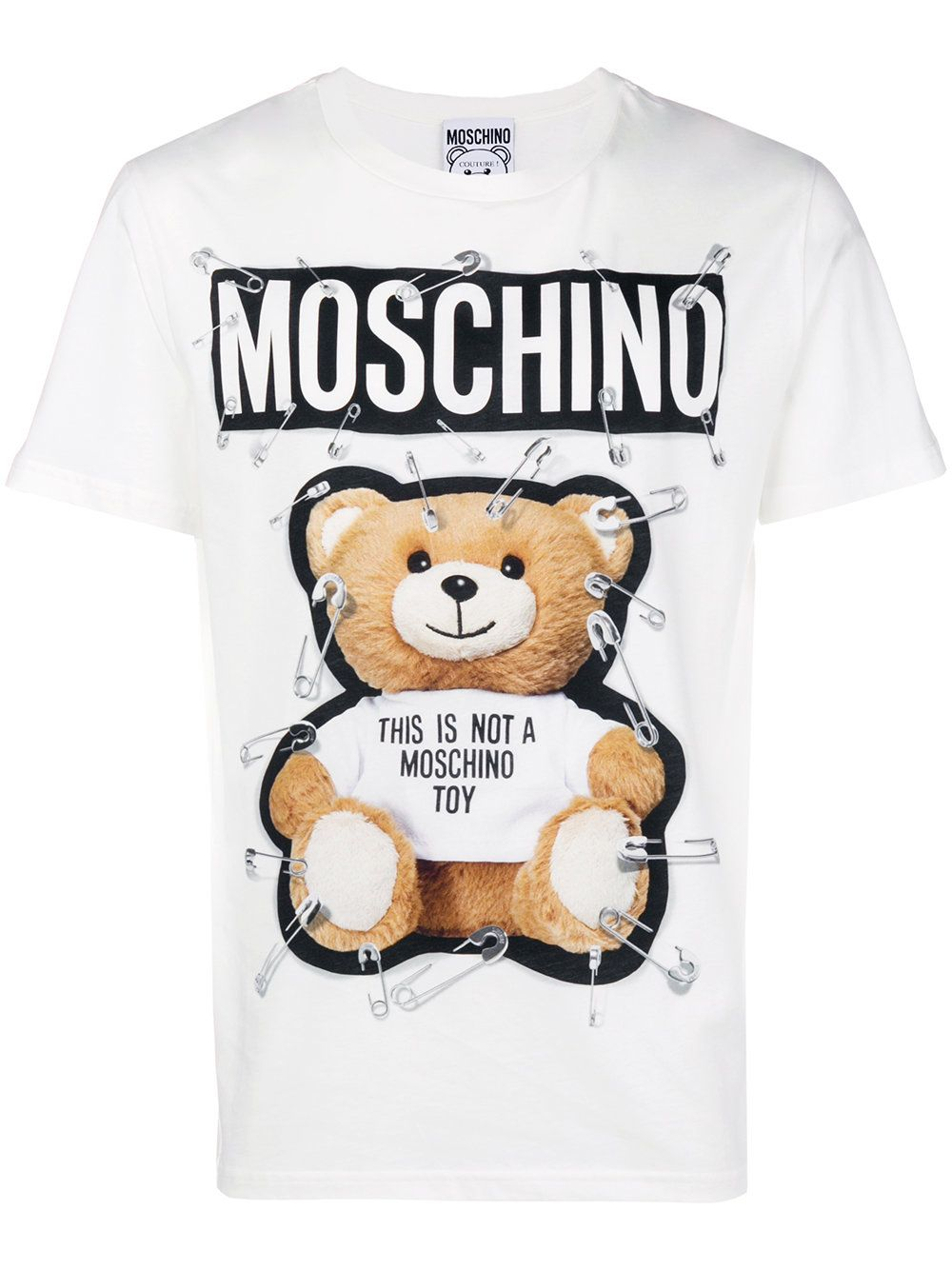 0403df65680dd Moschino Safety-pin teddy bear T-shirt | T-shirts | Bear t shirt ...