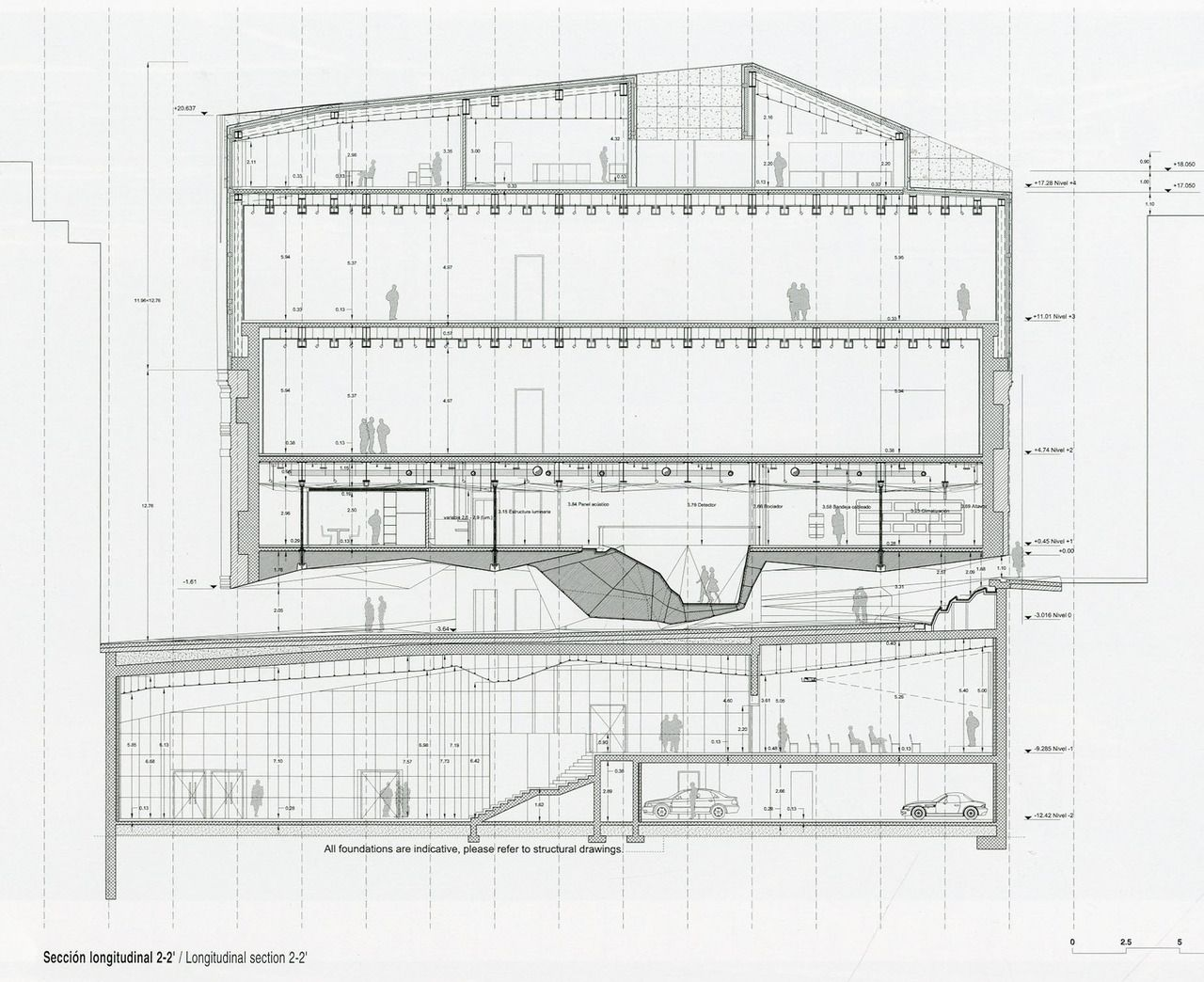 Sectional Drawing Of The Caixa Forum Madrid Herzog Amp De