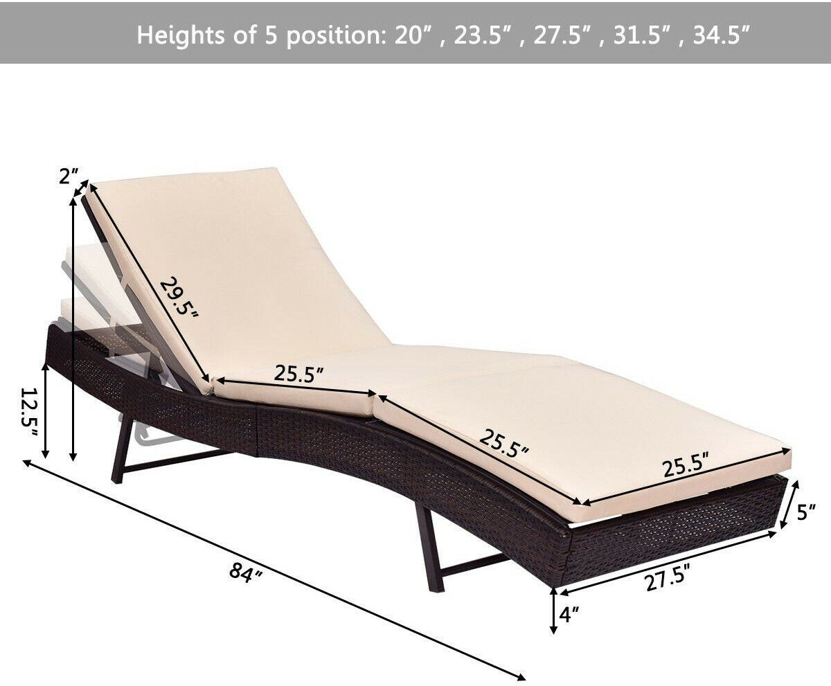 Fine Details About Patio Pool Sun Bed Wicker Lounge Chair With Ocoug Best Dining Table And Chair Ideas Images Ocougorg