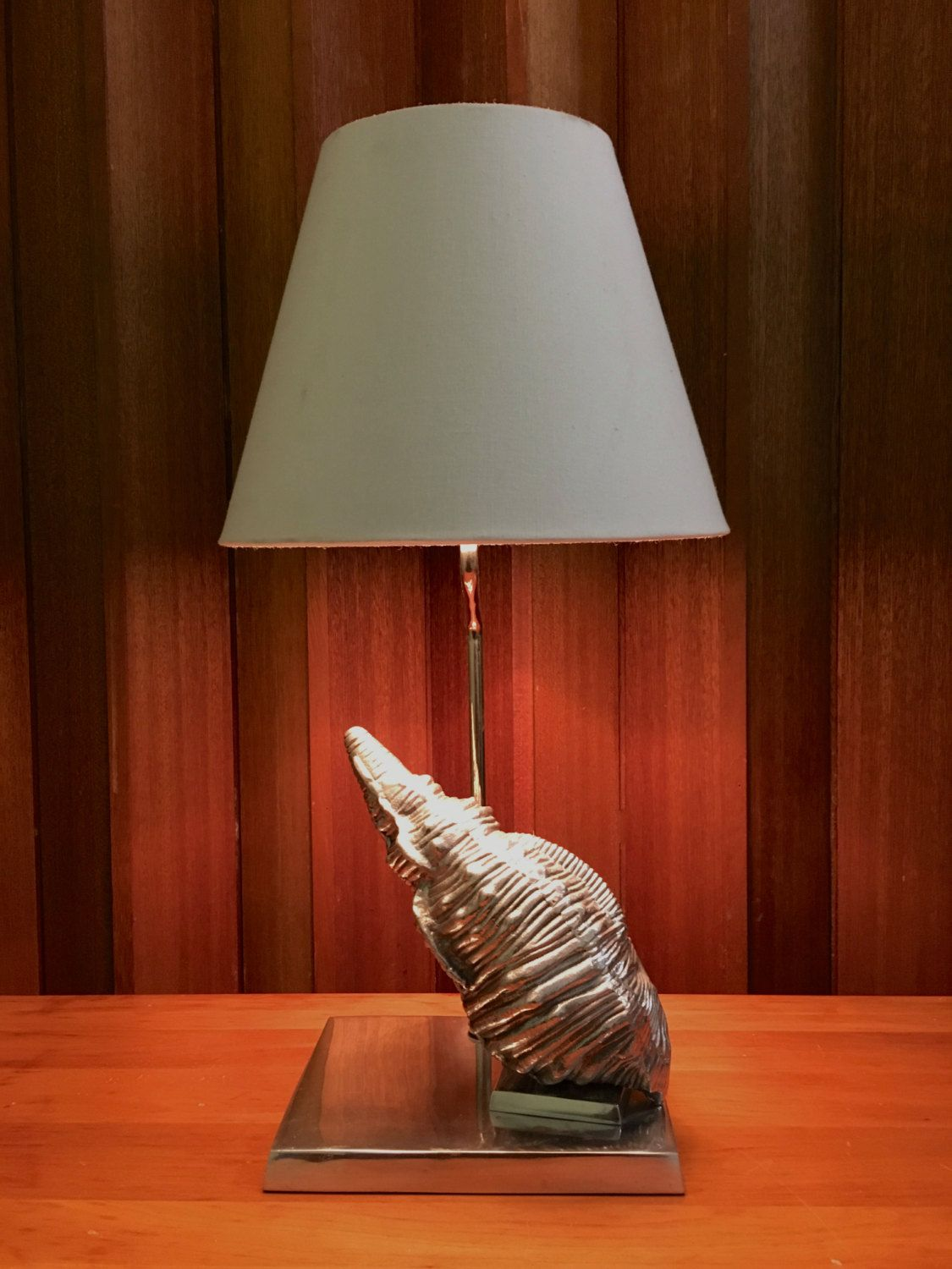 Vintage fredrick cooper table lamp silver seashell conch shell vintage fredrick cooper table lamp silver seashell conch shell modern beach decor by offcentermodern on etsy aloadofball Gallery