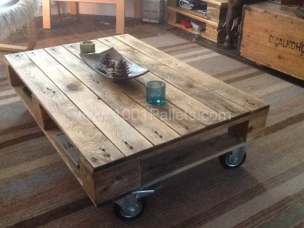 Pallet Coffee Table On Wheels Coffee Table With Wheels Pallet