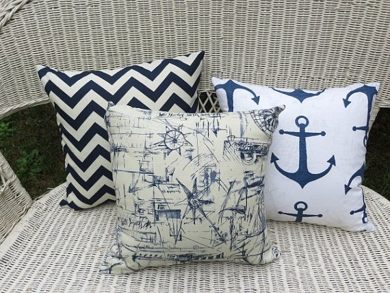 Nautical Navy Inspire Pillow Cover 18