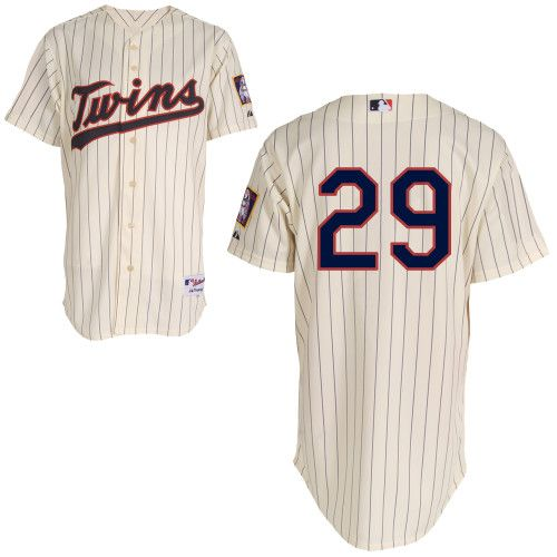 507664df579 Mitchell and Ness Twins #29 Rod Carew Cream Black Strip Stitched MLB Jersey