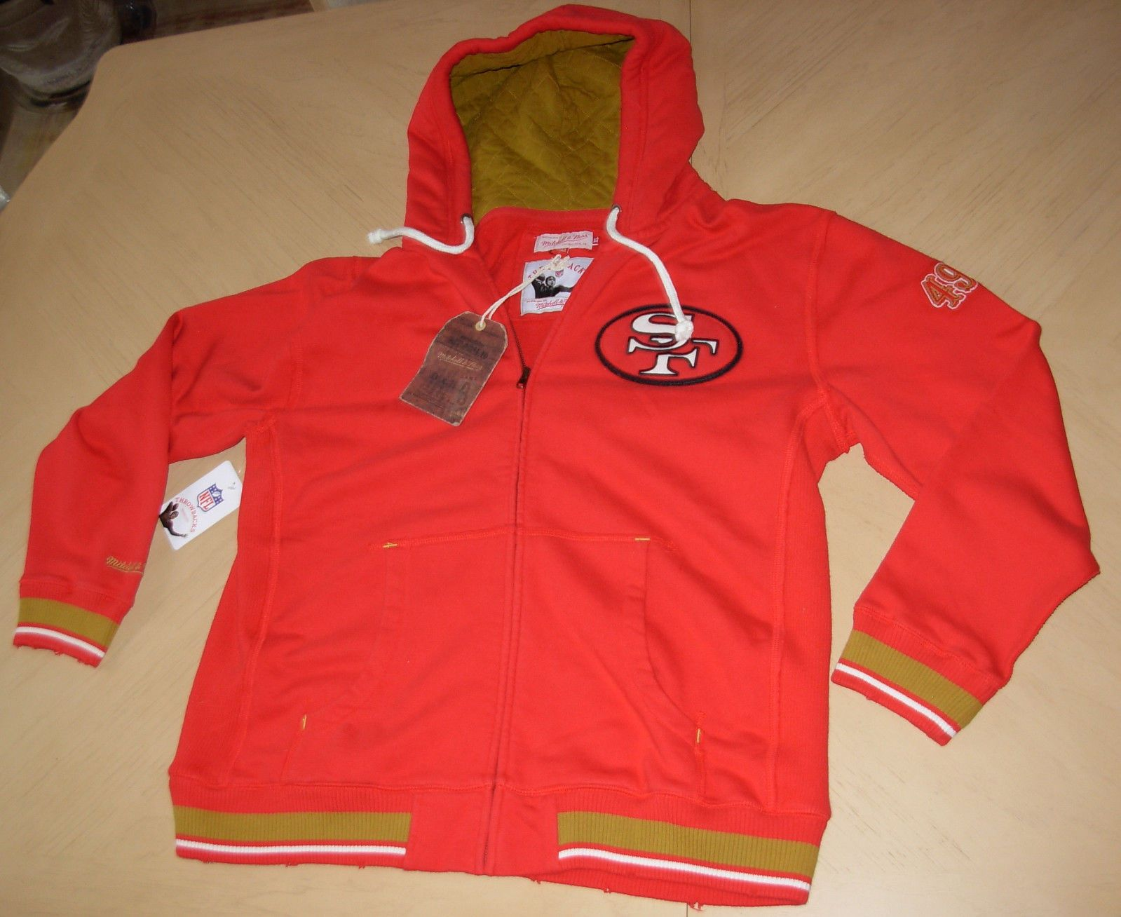 NFL San Francisco 49ERS Football JACKET Sweatshirt HOODIE Mitchell ... 6e6748767
