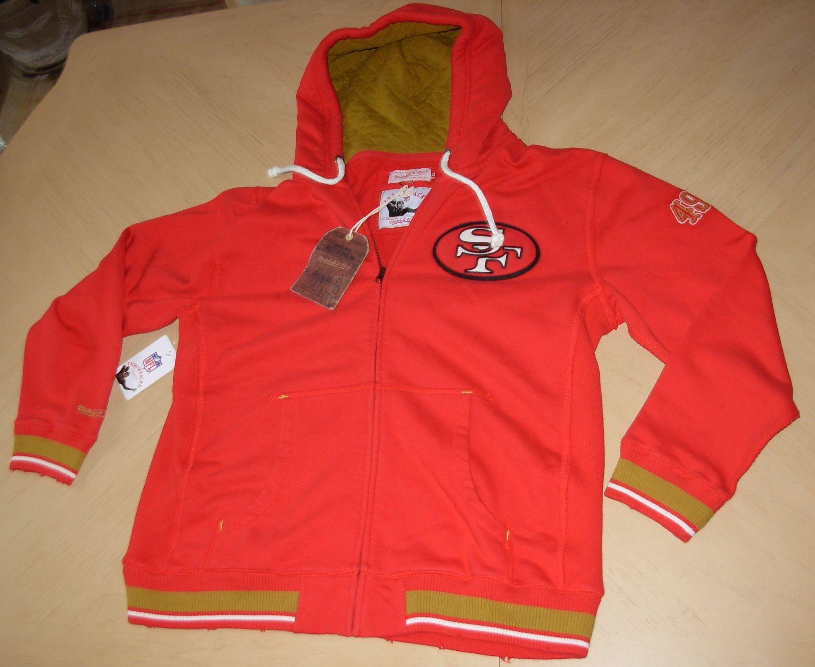 NFL San Francisco 49ERS Football JACKET Sweatshirt HOODIE Mitchell ...