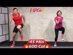 45 Min Tabata HIIT Cardio and Abs Workout - HASfit - Free Full Length Workout Videos and Fitness Pro...