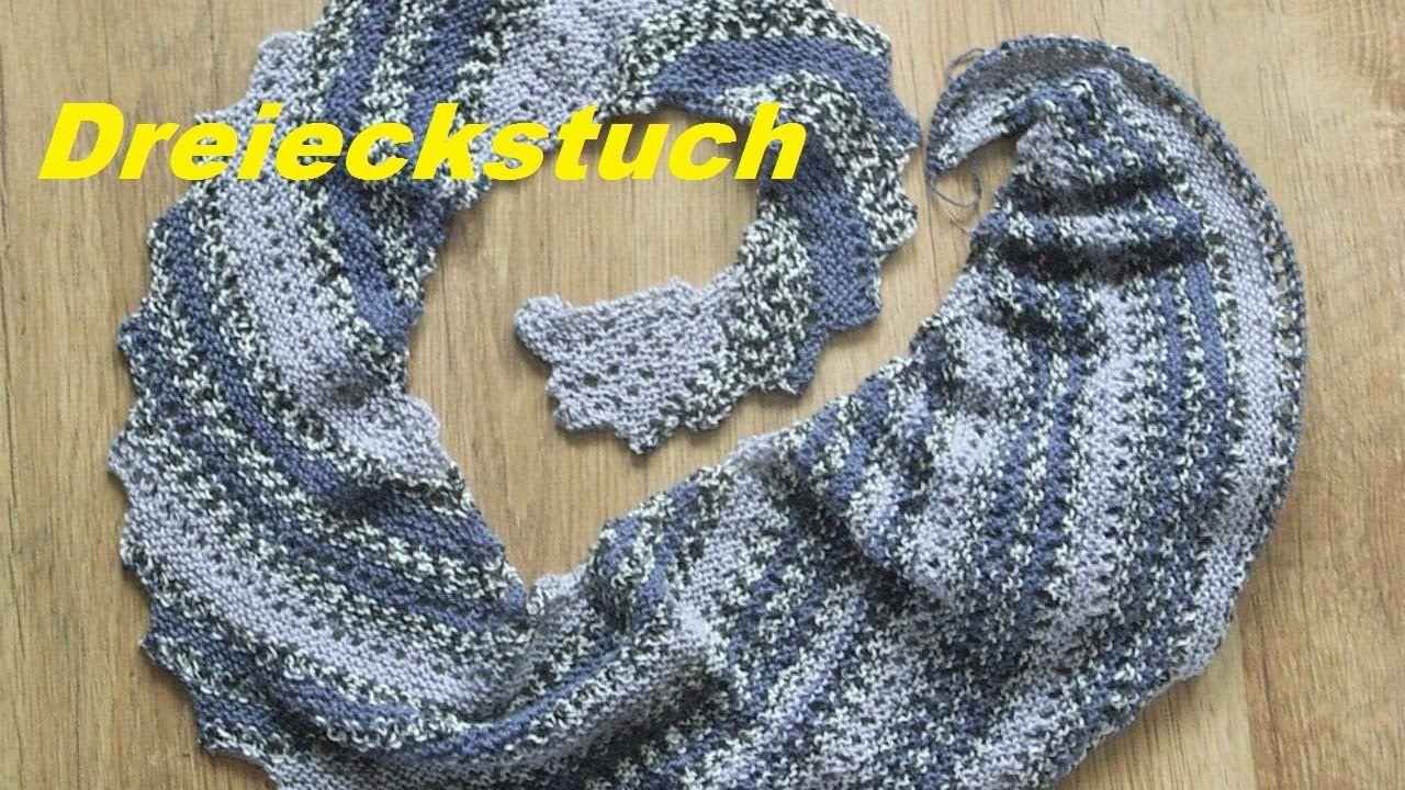 Drachenschwanz Mit Lochmuster Baktus Halstuch Dreieckstuch Stricken Youtube Knitted Headband Lace Pattern Cable Headband