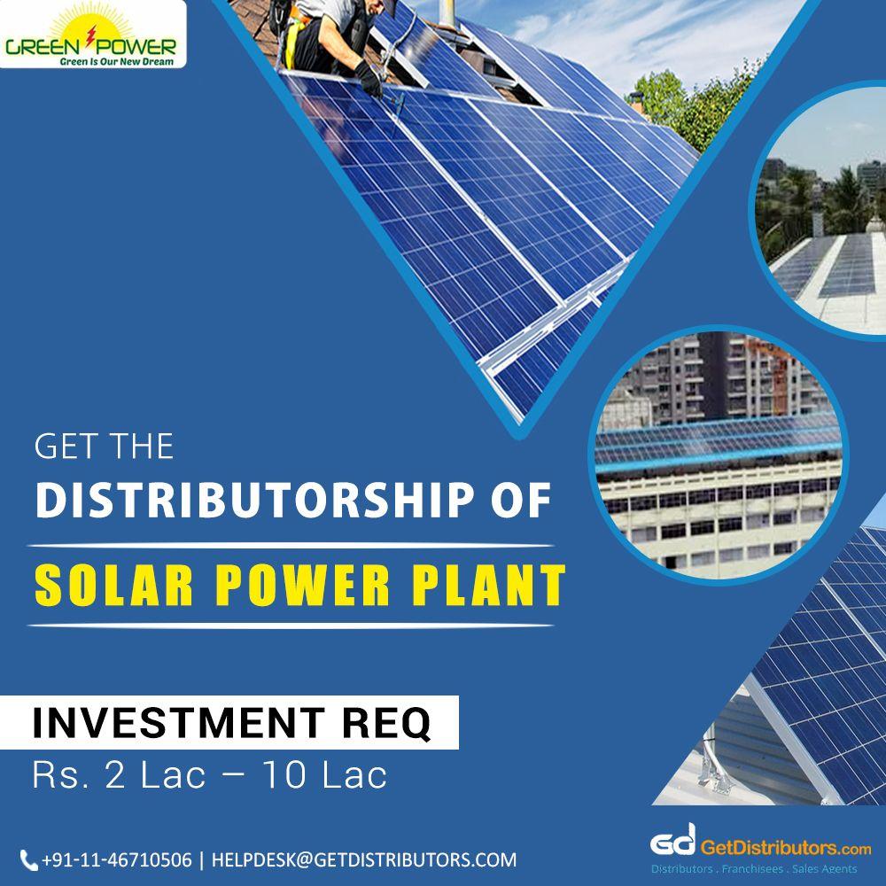 Distributorship Of Solar Power Plant