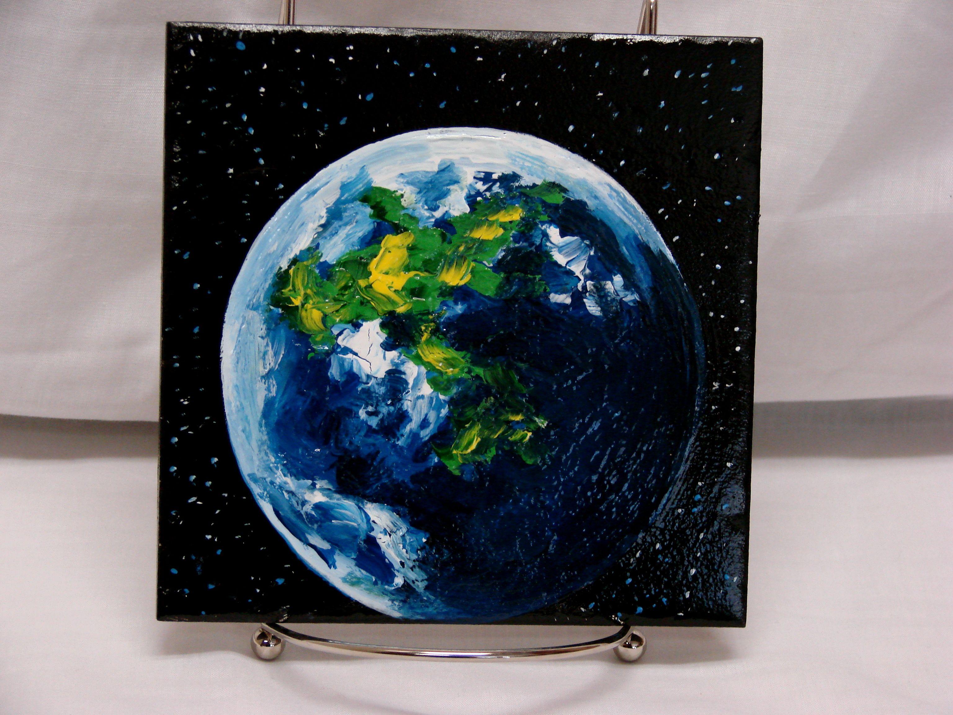 Wonderful 1 Inch Ceramic Tiles Big 12X12 Black Ceramic Tile Clean 12X12 Ceiling Tile 12X12 Ceramic Floor Tile Youthful 12X24 Ceramic Tile Patterns Blue2X4 Glass Subway Tile Planet Earth Original, Acrylic Painting On 6\