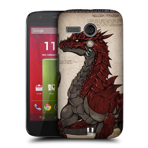 detailing 59c8d 22094 Head Case Red Scaled Dragons Hard Back Case Cover for Motorola Moto ...