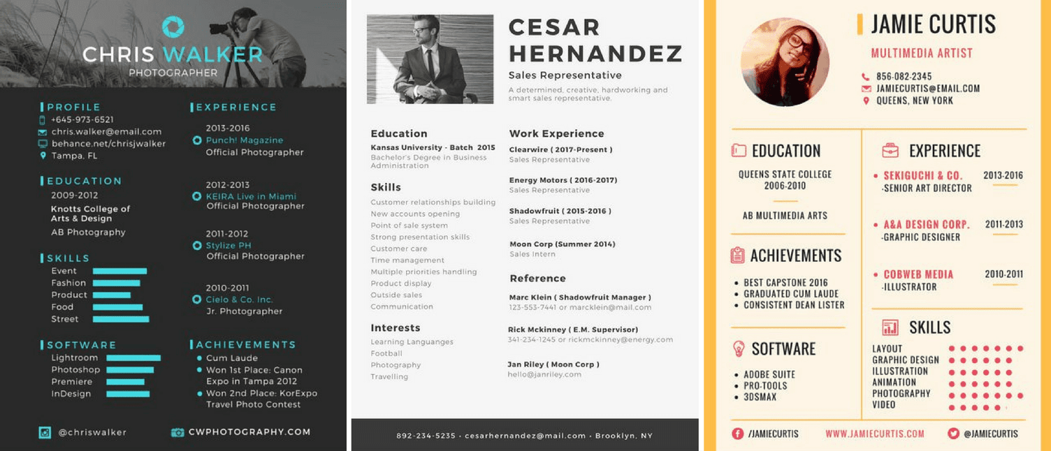 resumes Resume design, Resume design inspiration, Resume