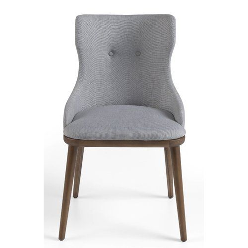 Anza Upholstered Dining Chair Corrigan Studio Solid Wood Dining Chairs Upholstered Dining Chairs Dining Chairs
