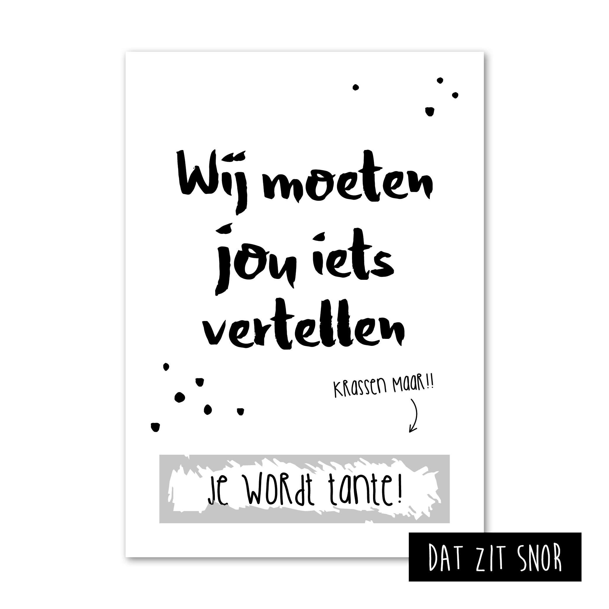 Baby Rug Naar Buik Draaien: KRASKAART 'JE WORDT TANTE!' Op Zoek Naar Een Originele