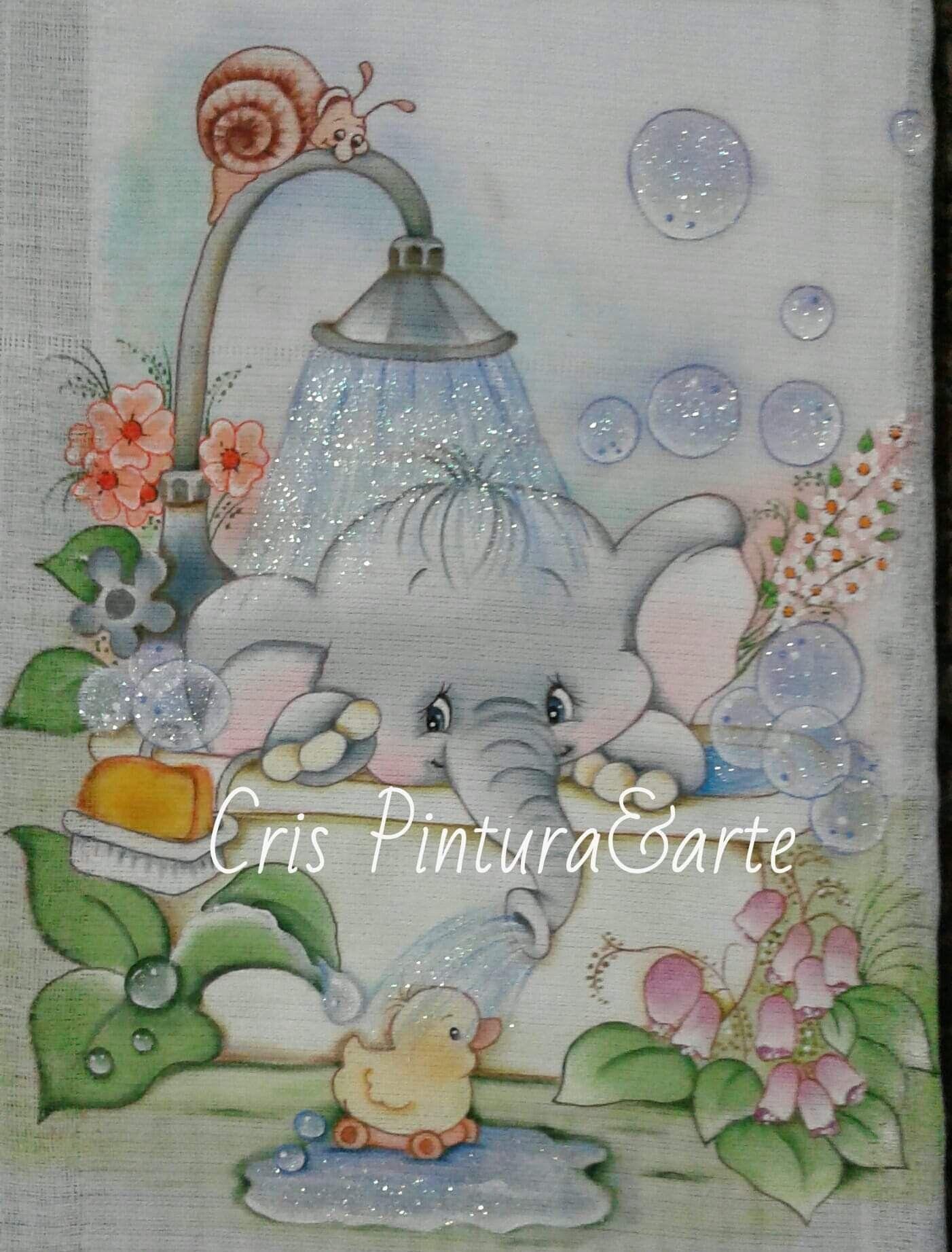 Toalha De Banho Pintura Em Fraldas Pinturas Em Tecido Fraldas