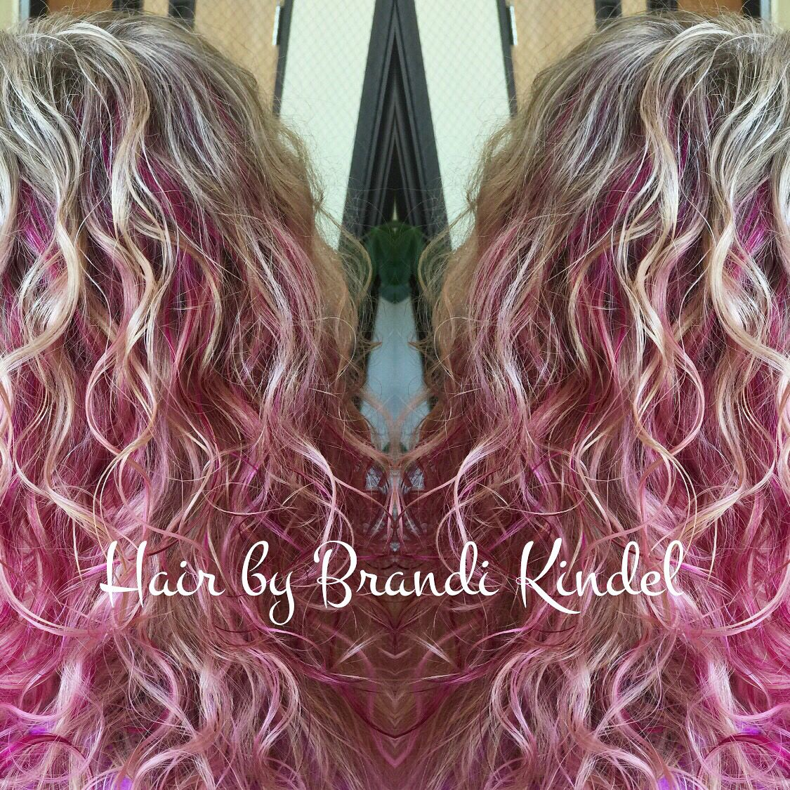 Had some fun adding some more Pink  to Donna's hair today!!! As if she didn't already have beautiful enough hair! Love her hair so much!!!!