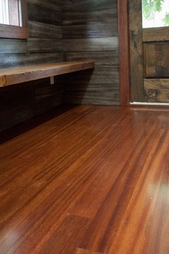 Reclaimed Tropical Hardwood Floors With Rich Dark Red Color Home