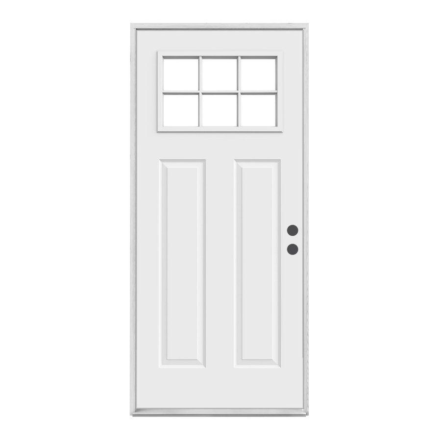 Shop Reliabilt Craftsman 6 Lite Inswing Steel Entry Door At Lowe S