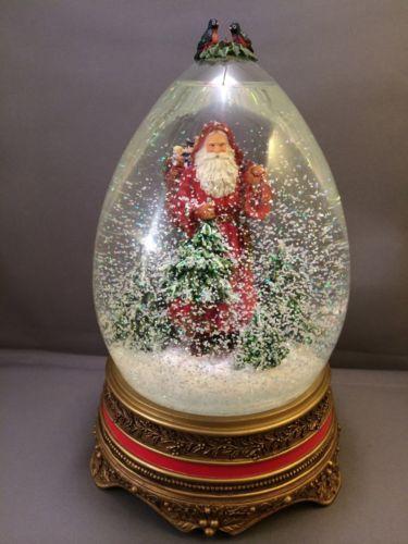 Large Musical Christmas Snow Globes