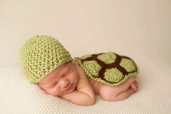 07696352a Newborn Baby Turtle Outfit Set for Baby Shower Gift or Newborn Photo ...