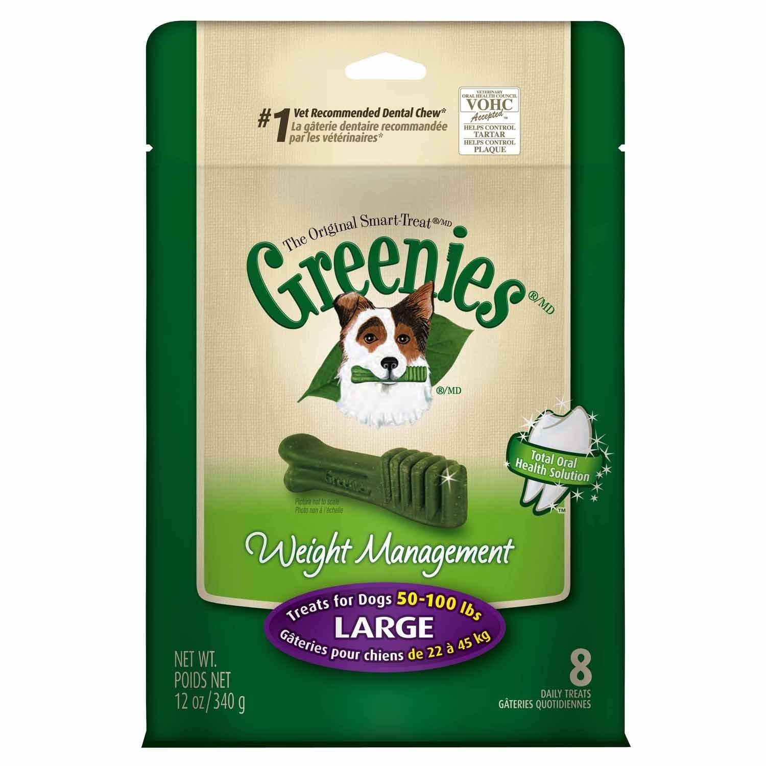 GREENIES Weight Management TreatPakLarge Dog 12 Oz, Pack