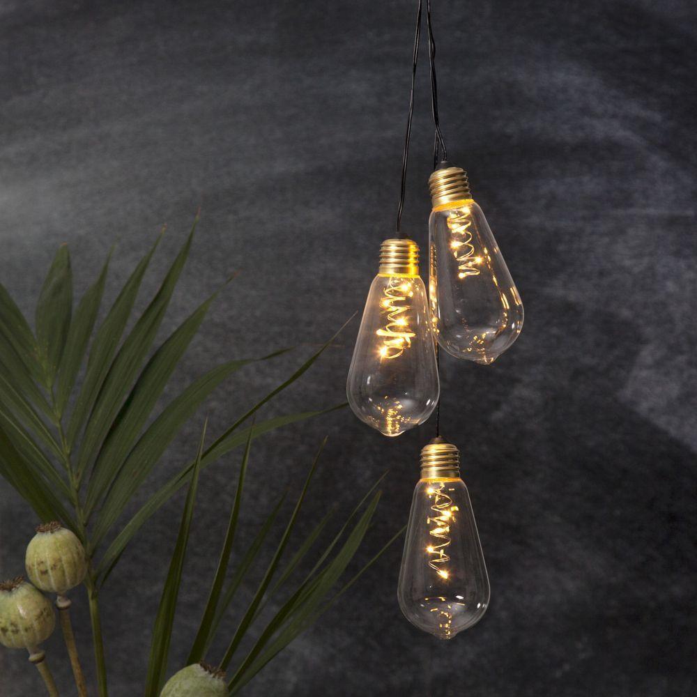 Led Deko Leuchte Glow Mit Transparentem Glas Glas Led Solar Lichterkette