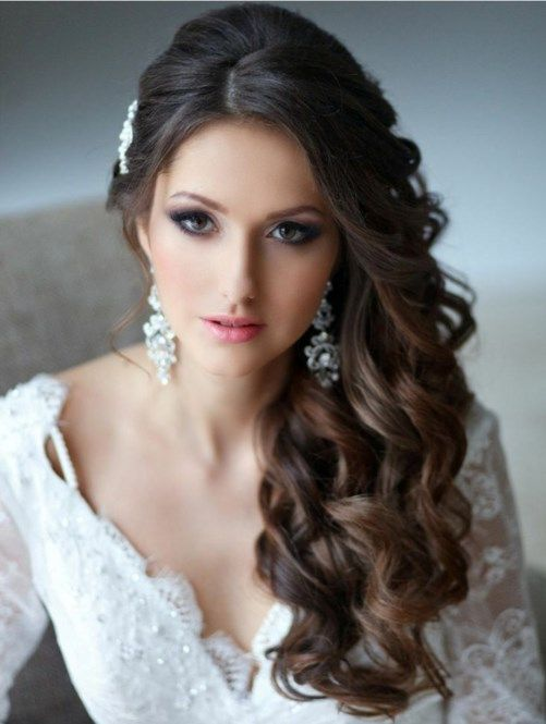 beautiful wedding hair styles for long curly hair - Google Search ...