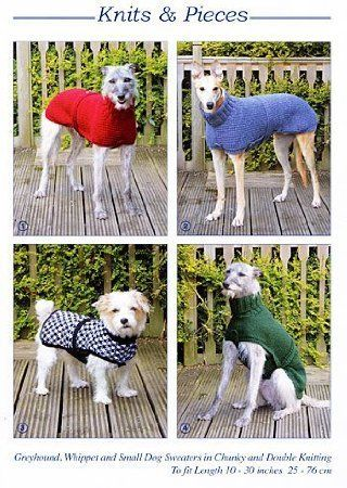 Knits Pieces Knitting Pattern Whippet Greyhound And Small Dog