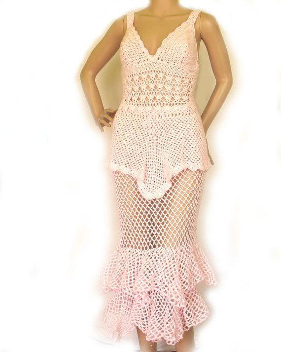 Crochet Dress Summer Skirt And Top Beach Wedding Lace Crochet Suit