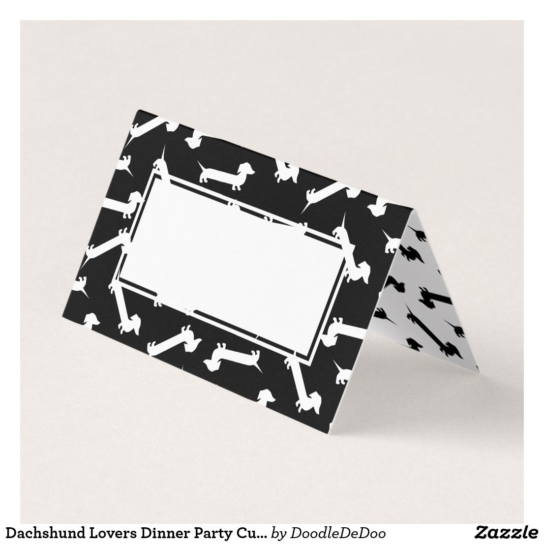 Dachshund Lovers Dinner Party Cute Place Card