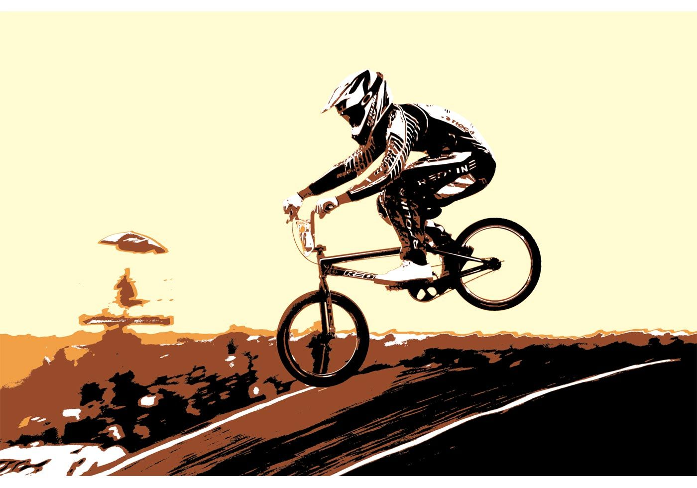Free Vector BMX Biker | schilderijen | Pinterest | BMX, Illustrators ...