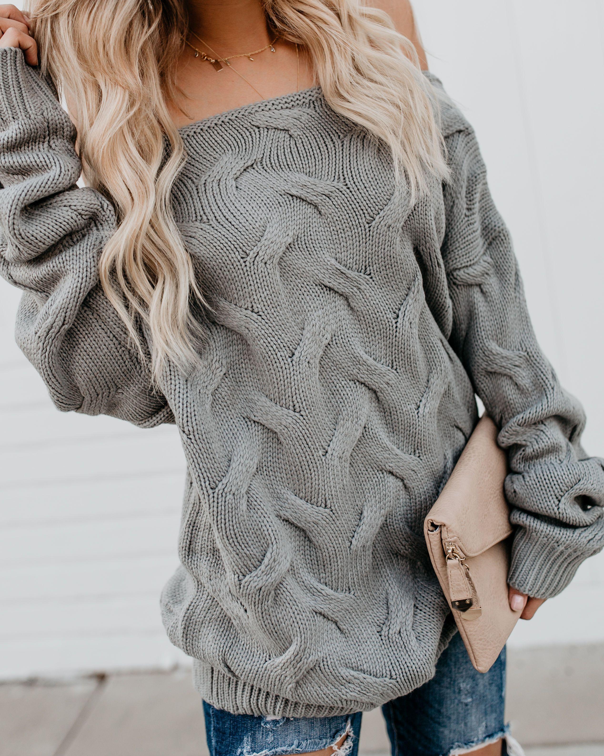 Nova Scotia Off The Shoulder Knit Sweater Sweaters women
