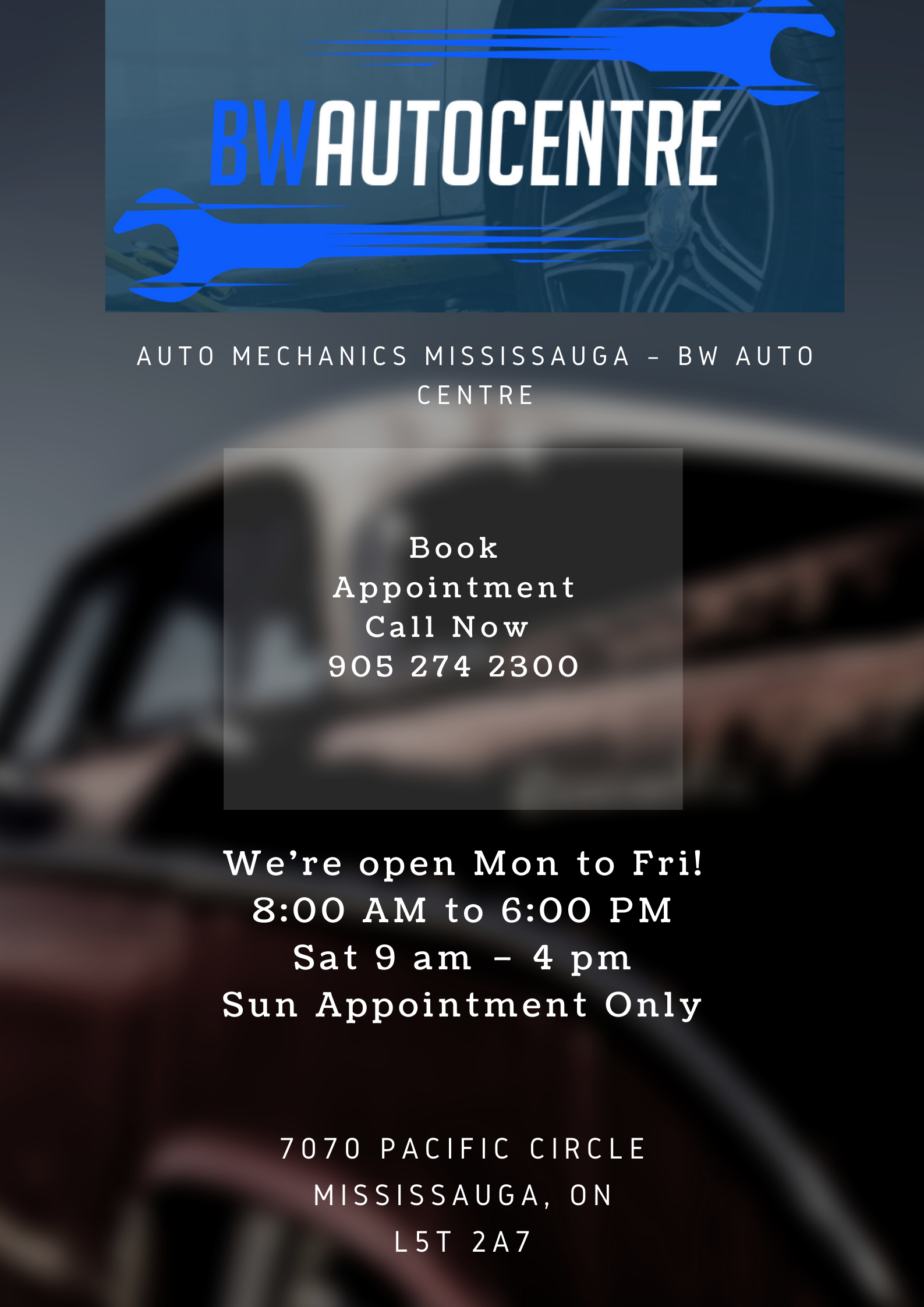 Car Repair Service Mississauga Book Appointment in 2020